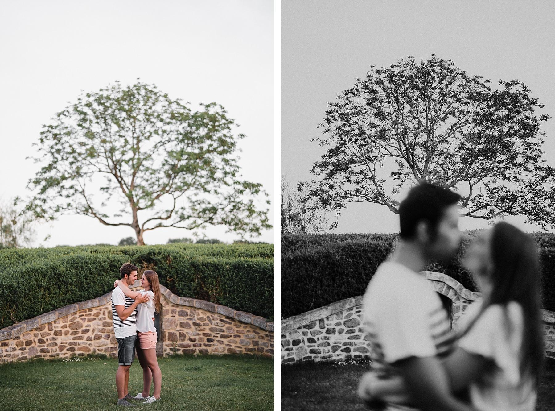 beautiful countryside couple shooting